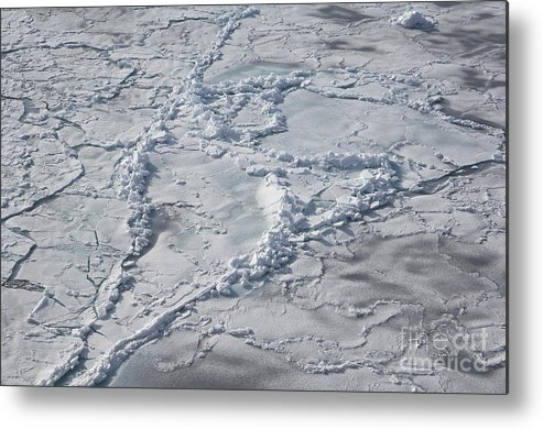 Pack Ice Metal Print featuring the photograph Pack Ice, Antarctica by John Shaw