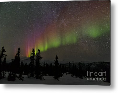 Science Metal Print featuring the photograph The Aurora Borealis by John Shaw