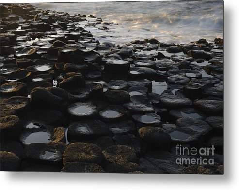 Landscape Metal Print featuring the photograph The Giants Causeway by John Shaw