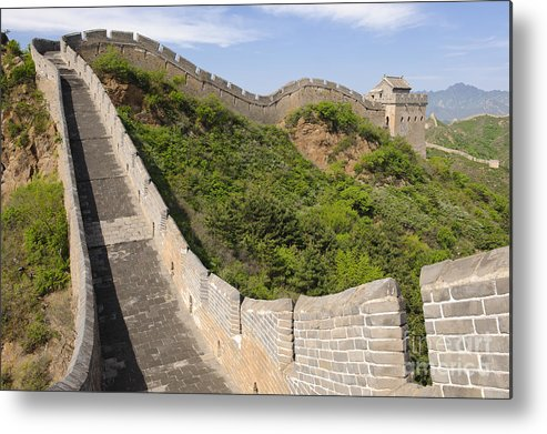 Great Wall Metal Print featuring the photograph Great Wall Of China by John Shaw
