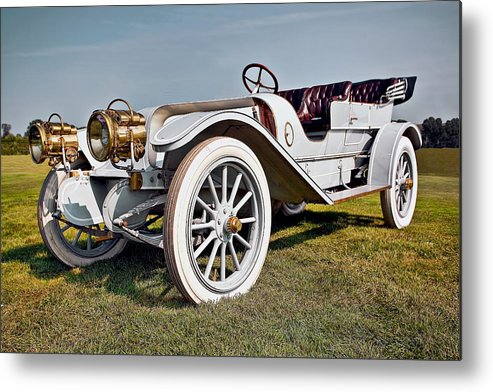 Transportation Metal Print featuring the photograph 1910 Franklin Type H Touring by Marcia Colelli