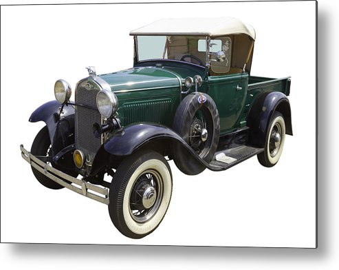 Transportation Metal Print featuring the photograph 1930 Ford Model A Pickup Truck by Keith Webber Jr