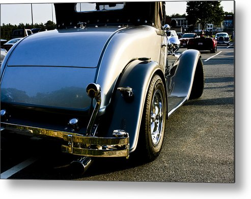 Transportation Metal Print featuring the photograph 1930 Plymouth Bumper And Tail Light by Dennis Coates