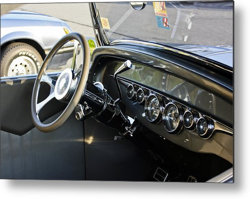 Transportation Metal Print featuring the photograph 1930 Plymouth Dashboard by Dennis Coates