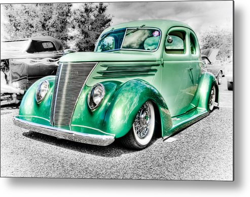 Ford Coupe Metal Print featuring the photograph 1937 Ford Coupe by Phil 'motography' Clark