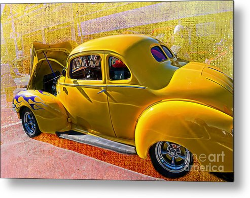 Car Photograph Metal Print featuring the photograph 1940 Hudson by Beverly Guilliams