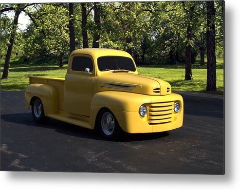 1950 Metal Print featuring the photograph 1950 Ford F1 Pickup Truck by Tim McCullough