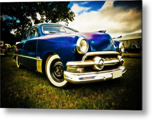 Ford Custom V8 Metal Print featuring the photograph 1951 Ford Custom by Phil 'motography' Clark