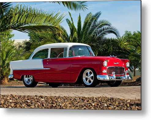 1955 Chevrolet 210 Metal Print featuring the photograph 1955 Chevrolet 210 by Jill Reger