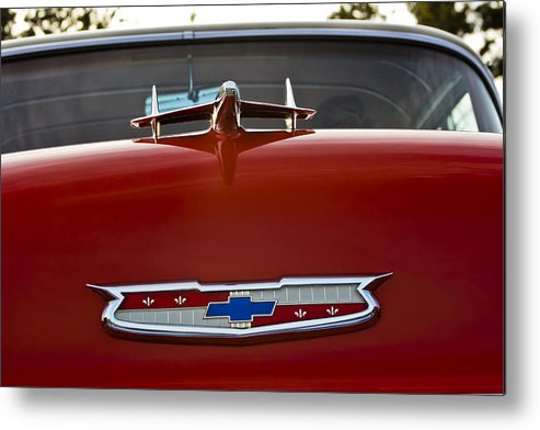 Transportation Metal Print featuring the photograph 1955 Chevy Bel Air by Dennis Coates