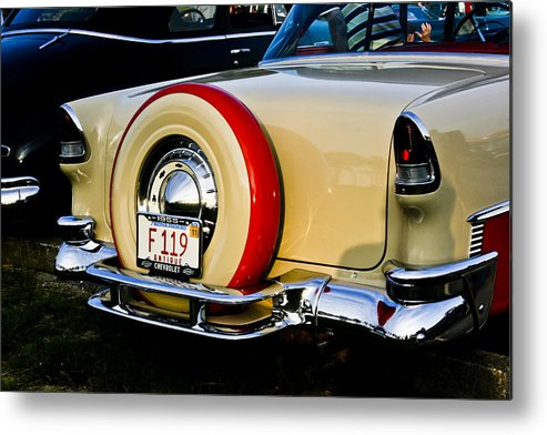 Transportation Metal Print featuring the photograph 1955 Chevy Bel Air Rear by Dennis Coates
