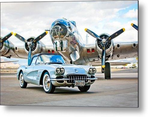 1959 Chevrolet Corvette Metal Print featuring the photograph 1959 Chevrolet Corvette by Jill Reger