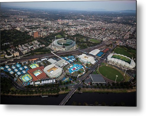 Landscape Metal Print featuring the photograph 2014 Australian Open by Brett Price