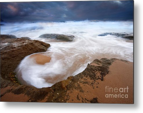 Bowl Metal Print featuring the photograph Angry Sea by Mike Dawson