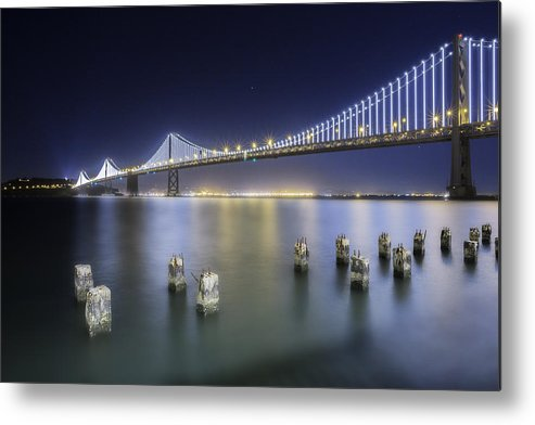 Bay Bridge Metal Print featuring the photograph Bay Bridge In San Francisco by Jerome Obille
