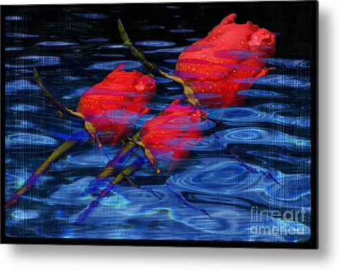 Rose Image Metal Print featuring the digital art Be Mine by Yael VanGruber