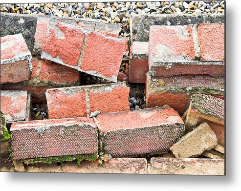 Architectural Metal Print featuring the photograph Bricks by Tom Gowanlock