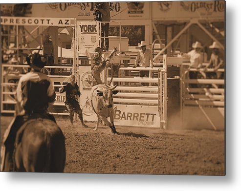 Bull Rider Metal Print featuring the photograph Bull Rider by Stormys Unique  Creations