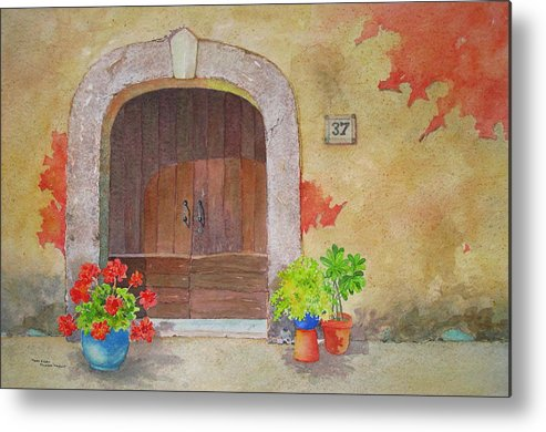 Tuscany Metal Print featuring the painting Color Me Tuscany by Mary Ellen Mueller Legault