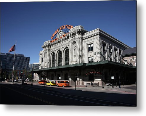 America Metal Print featuring the photograph Denver - Union Station by Frank Romeo
