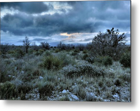 Desert Metal Print featuring the photograph Desert Sunrise by Stephen Vecchiotti