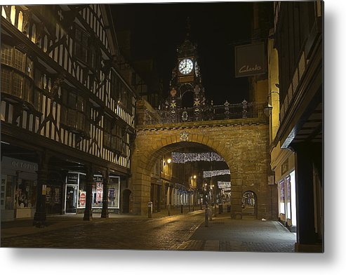 Chester Metal Print featuring the photograph Eastgate Clock by Jeff Dalton