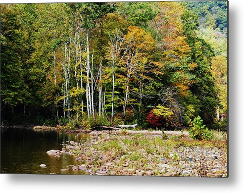 Autumn Metal Print featuring the photograph Fall Color River by Thomas R Fletcher