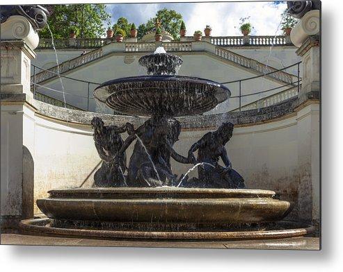 Linderhof Metal Print featuring the photograph Linderhof And Royal Garden by Radka Linkova