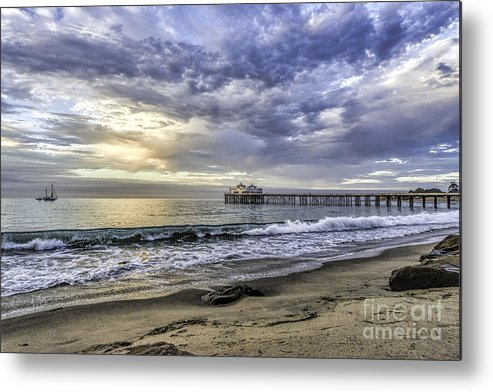 Seascapes Metal Print featuring the photograph Malibu Winter by Bill Baer