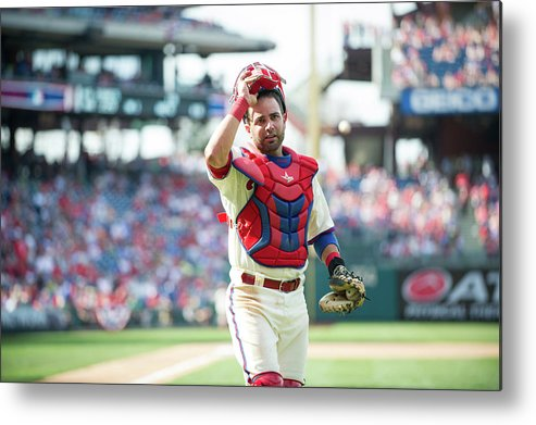 Citizens Bank Park Metal Print featuring the photograph Miami Marlins V Philadelphia Phillies 2 by Rob Tringali