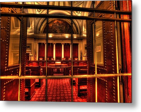 Minnesota State Capitol Metal Print featuring the photograph Minnesota Supreme Court by Amanda Stadther