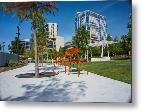 Landscapes Metal Print featuring the photograph Park by Tinjoe Mbugus