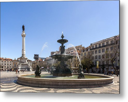 Ancient Metal Print featuring the photograph Pedro Iv Square by Andre Goncalves