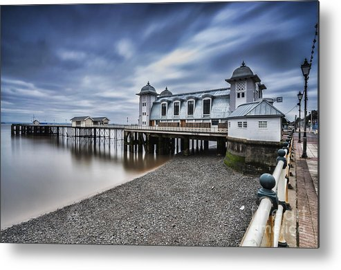 Penarth Pier Metal Print featuring the photograph Penarth Pier 1 by Steve Purnell