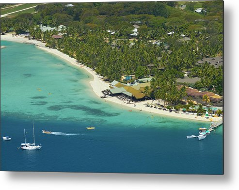 Accommodation Metal Print featuring the photograph Plantation Island Resort, Malolo Lailai by David Wall