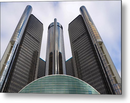 Detroit Metal Print featuring the photograph Renaissance Center by Gales Of November