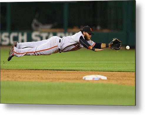 Ninth Inning Metal Print featuring the photograph San Francisco Giants V St. Louis 2 by Dilip Vishwanat
