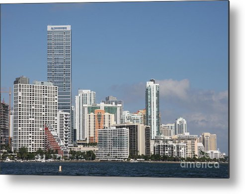 Miami Metal Print featuring the photograph Skyline Miami by Christiane Schulze Art And Photography