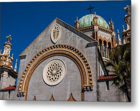 Florida Metal Print featuring the photograph St. Augustine Florida Church by Don Kerr