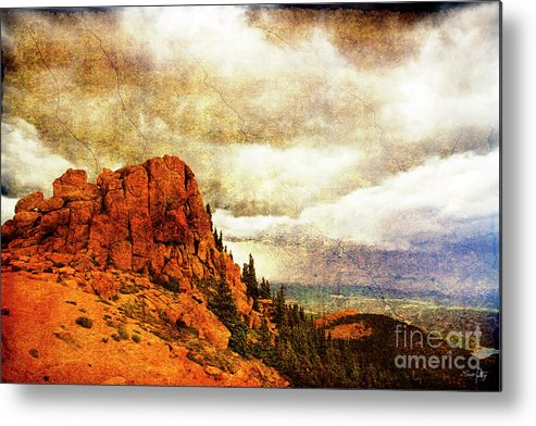 Storm Metal Print featuring the photograph Standing Against The Storm by Scott Pellegrin