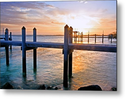 Sunset Metal Print featuring the photograph Sunset By The Dock by Manuel Lopez