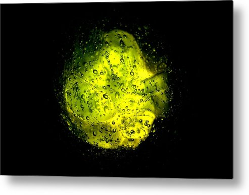 Yellow Metal Print featuring the photograph The Thing by Gianfranco Merati