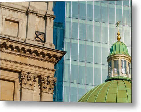 Architecture Metal Print featuring the photograph Three Styles Of Architecture by Chay Bewley