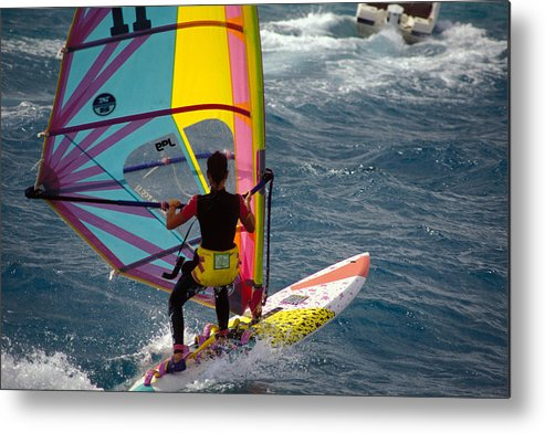 Contest Metal Print featuring the photograph Windsurfing International Competition by Carl Purcell