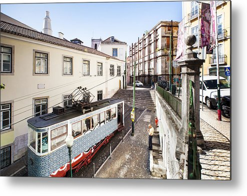 Baixa Metal Print featuring the photograph The Gloria Funicular by Andre Goncalves
