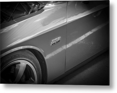 Dodge Metal Print featuring the photograph 2011 Dodge Challenger Srt8 Hemi Bw by Rich Franco