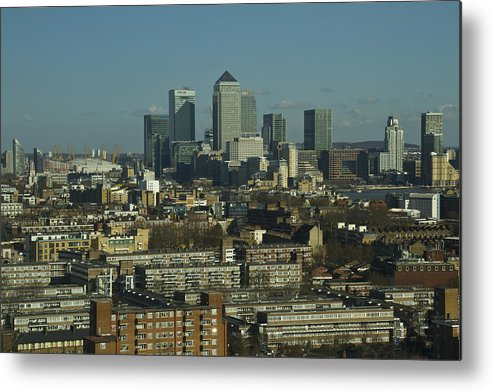 City Metal Print featuring the photograph 2013 Docklands London Skyline by David French