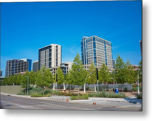 Landscapes Metal Print featuring the photograph Buildings by Tinjoe Mbugus