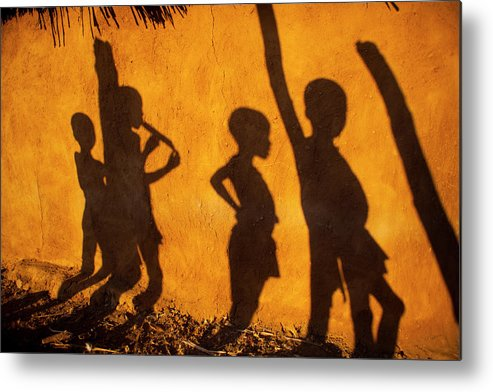 Namibian Metal Print featuring the photograph Himba Tribe by Ton Koene