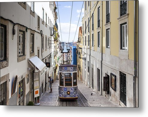 Baixa Metal Print featuring the photograph The Bica Funicular by Andre Goncalves